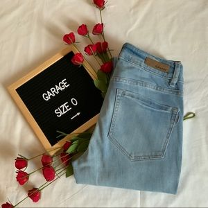 GARAGE Denim High Waisted Skinny Jeans Size 0